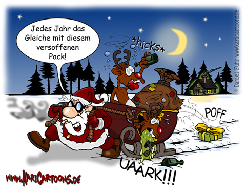 weihnachtsmann cartoons karikaturen illustrationen. Black Bedroom Furniture Sets. Home Design Ideas