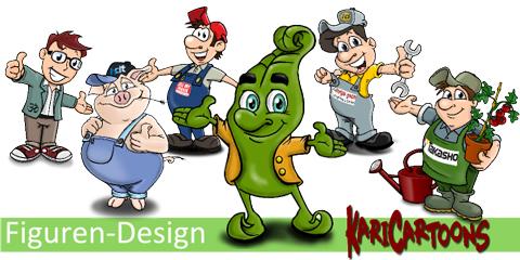 Banner-Seite-Figuren-Design