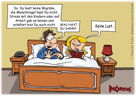 keine lust cartoons karikaturen illustrationen von. Black Bedroom Furniture Sets. Home Design Ideas