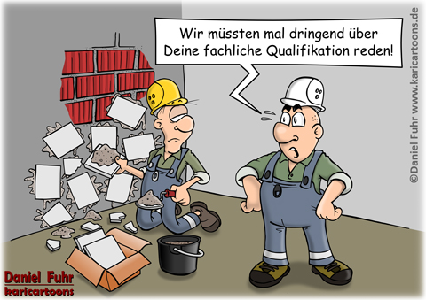 Haus bauen comic  bauen | Cartoons, Karikaturen & Illustrationen von Daniel Fuhr